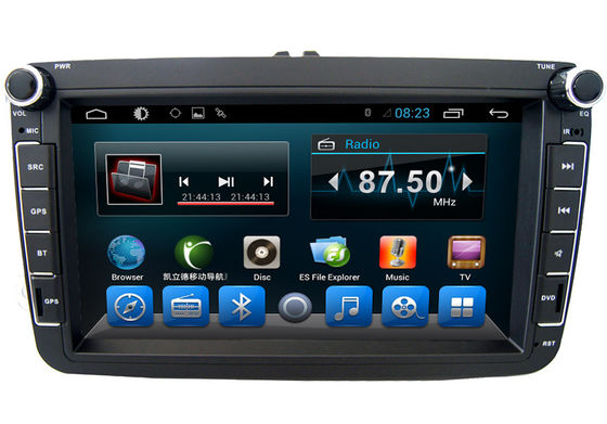 Cina Black Volkswagen Deckless 8 Inch Car GPS Navigation Android AST - 8087 pemasok