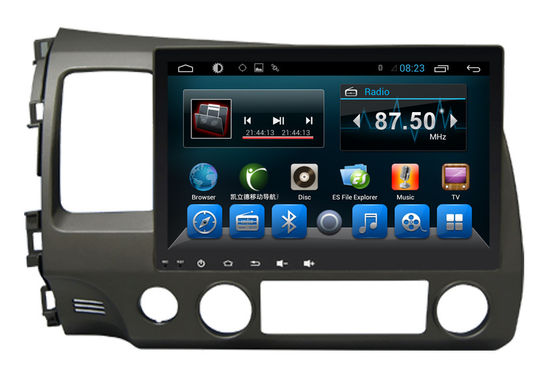 Cina Double Din Radio Car PC Bluetooth Dvd Player Civic 2006-2011 Big Screen pemasok