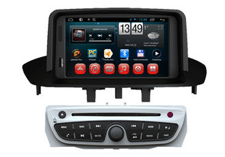 Cina Android 4.4 OS GPS Radio Tv Double Din Car DVD Player For  Megane 2014 pemasok