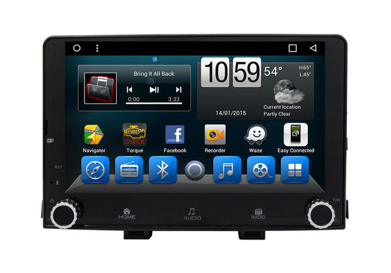 Cina Octa Core KIA Navigation System , 2 Din Car Dvd Player Android Gps Device Rio 2017 pemasok