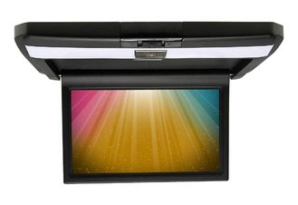 Cina Beige / Hitam / Abu-abu Mobil DVD Player HD Roof Flip Down Monitor 10.1-inch Screen pemasok