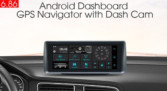 SD 3G Dalam Dash Navigasi GPS Tracker Dengan FM WiFi Bluetooth Rear Camera DVR