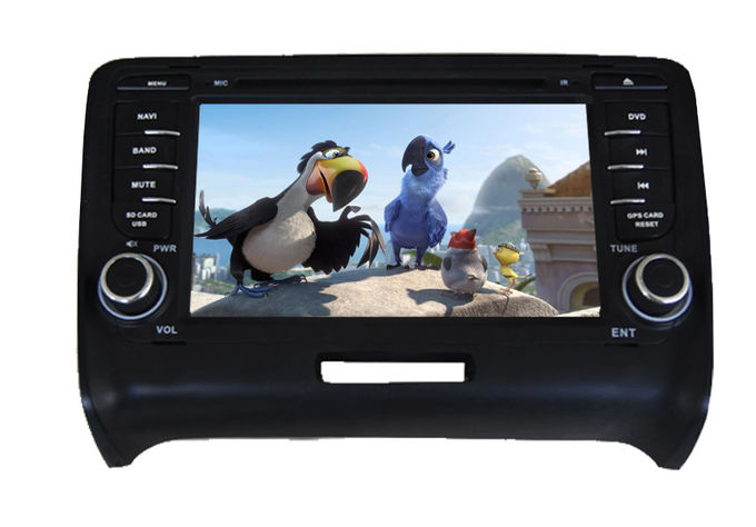 Quad Core Audi Navigation System Central Multimedia With HD Resolution Capacitive Touch Panel